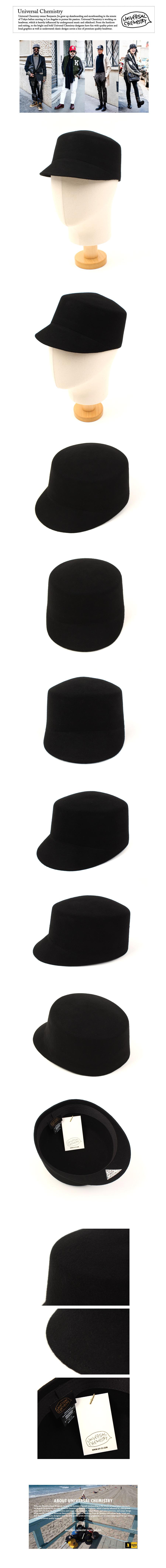 Wool Black Riding Cap 승마모자