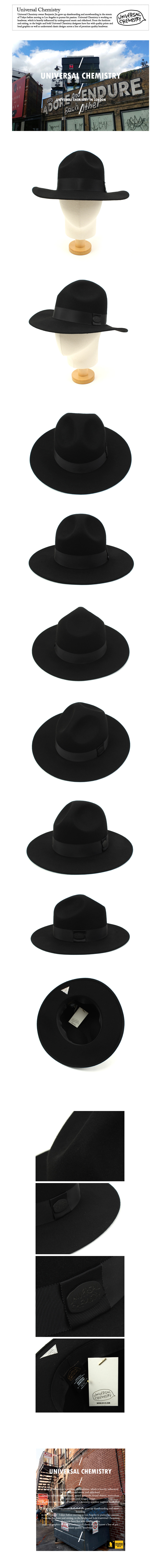 Line Black Wool Y Fedora 울페도라