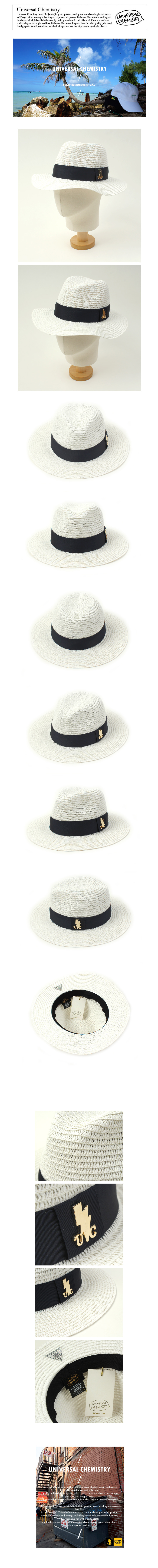 Navy Line Summer White Fedora 여름페도라