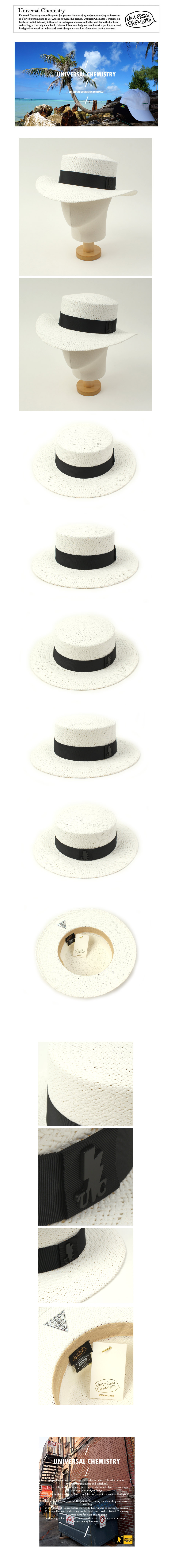 Black Line White Panama Hat 파나마햇