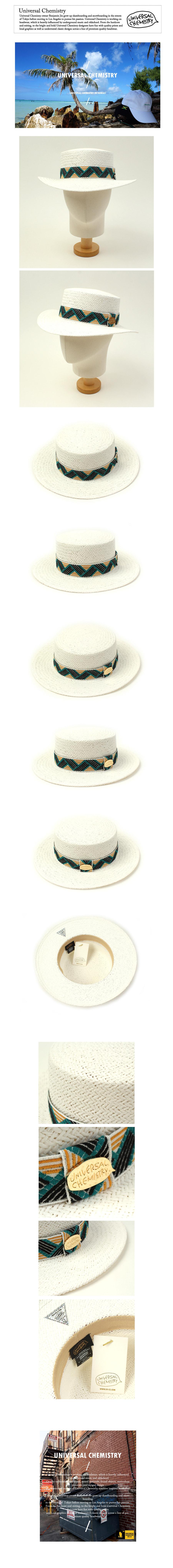 Cool Line White Panama Hat 여름페도라