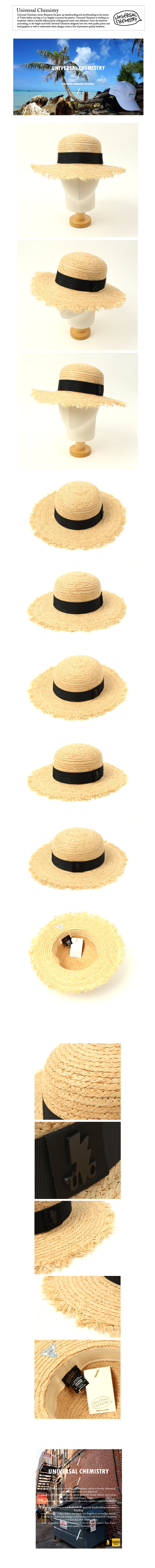 BKMT Round Natural Raffia Hat 여름페도라