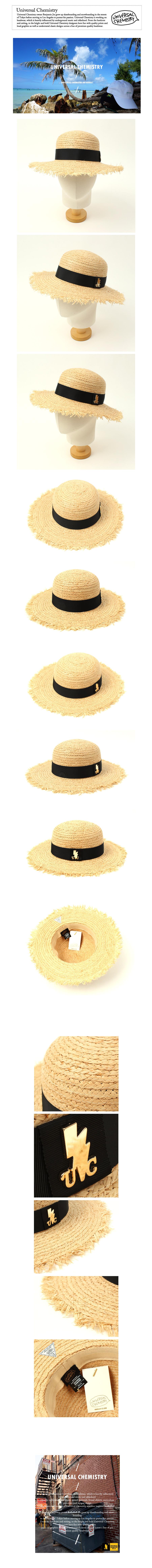 GDMT Round Natural Raffia Hat 여름페도라