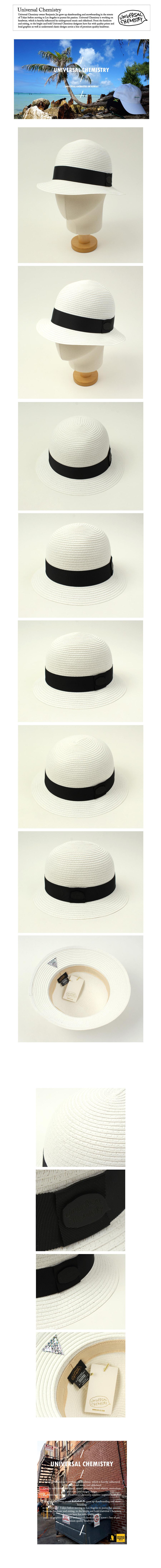BKMT Summer White Cloche Hat 여름페도라
