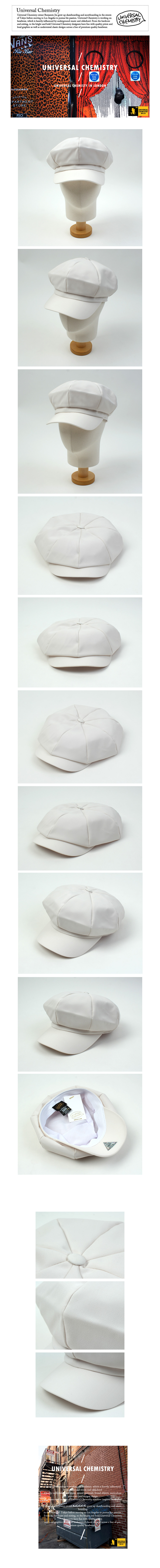 Cool White Newsboy Cap 뉴스보이캡