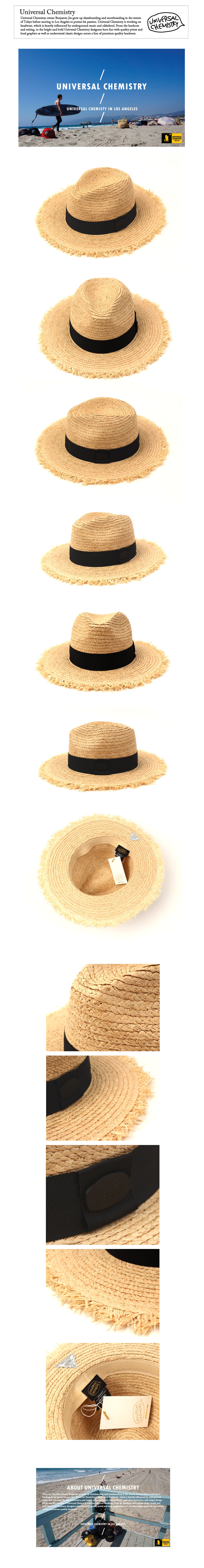 Black Metal Natural Fedora 썸머페도라