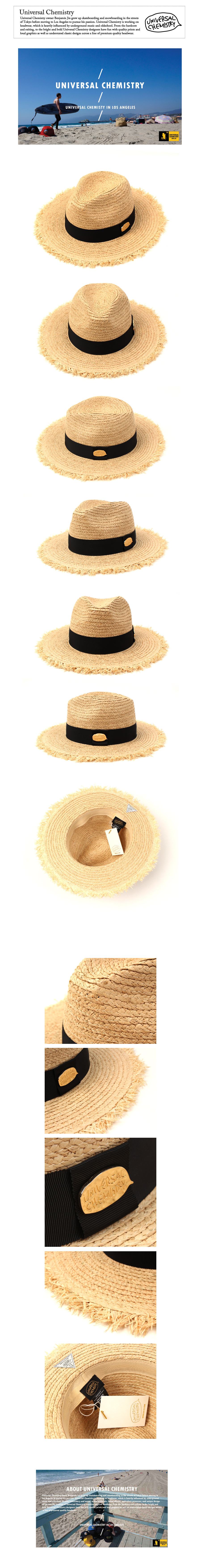 Gold Metal Natural Fedora 썸머페도라