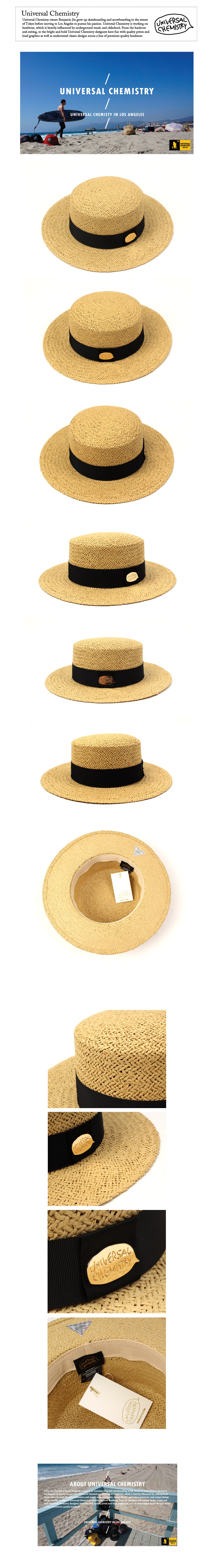 Beige Flat Panama Hat 파나마햇